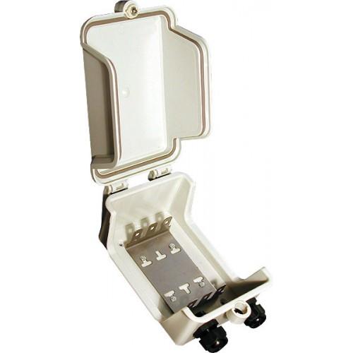 Коробка распределительная наружная на 3 плинта (30 пар), 185х135х80 мм, пластиковая IP 54, Hyperline