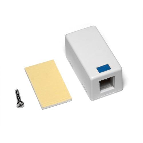 Настенная коробка на 1 порт для Keystone TWT-SB1-WH