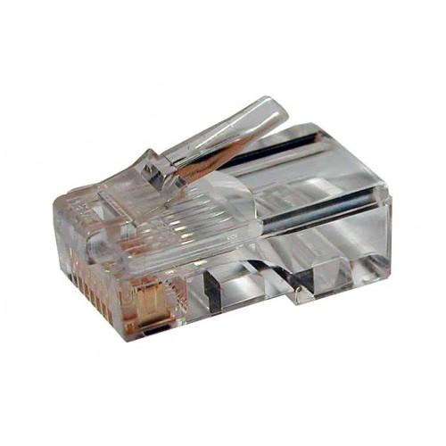 Коннектор RJ45 UTP 8P8C, универсальный, cat.5e, 100 шт. TWT-PL45-8P8C