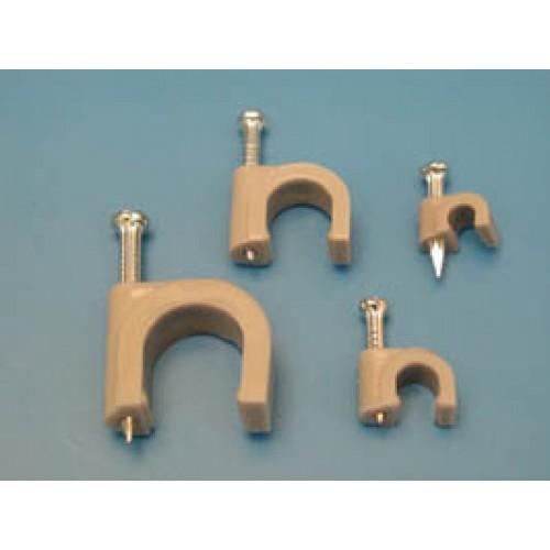 Скоба для кабеля 10х6.5мм с гвоздем (уп. 100 шт.), KSS