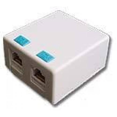 Настенная коробка на 2 порта для Keystone TWT-SB2-WH