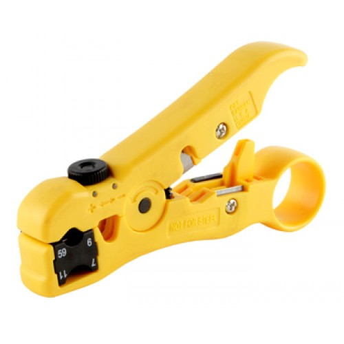 Инструмент для зачистки и обрезки круглого и плоского кабеля, со сменной кассетой