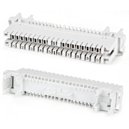 Плинт размыкаемый LSA-PLUS-PROFIL, 10 пар, маркировка от 1 до 0, TWT Eco, под хомут и профиль TWT-LSA10P-DIS-10