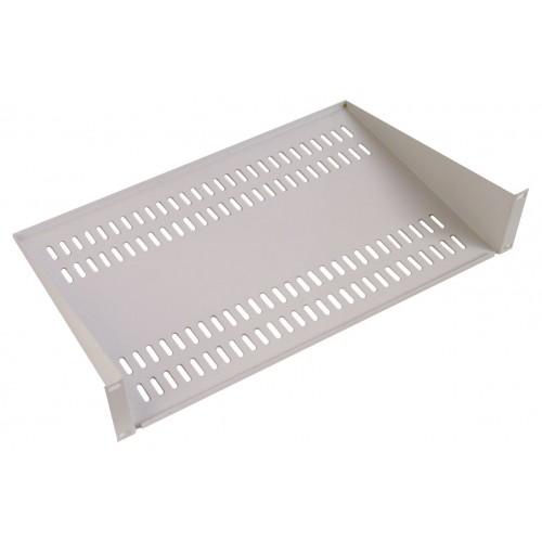 Полка ЦМО МС, консольная, 2U, 483х400х89 (ШхГхВ), для шкафов и стоек, цвет: серый МС-40