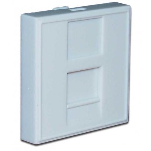 Вставка 45x45 на 1 кейстоун, со шторкой, маркировкой, белая, TWT-SIP-23N-WH
