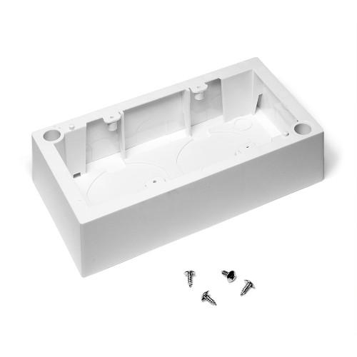 Настенная коробка под рамку французского стандарта, 45х90 мм LAN-WB45x90-WH