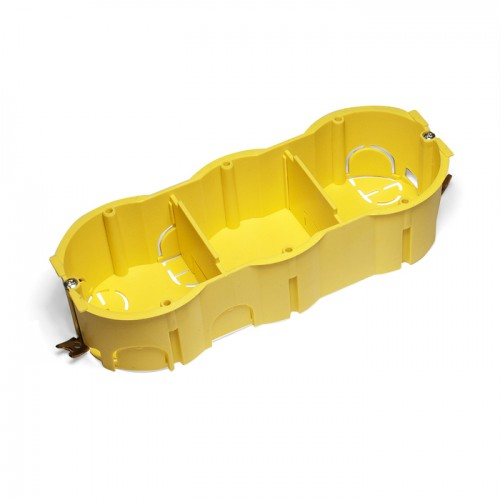 Подрозеточная коробка в стену для суппорта 45х135, желтая TWT-BX45x135-YL