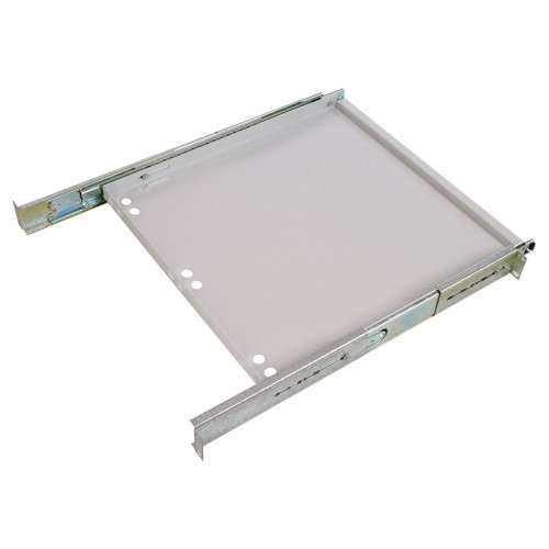 Полка клавиатурная ЦМО ТСВ, выдвижная, 1U, 440х455х25 (ШхГхВ), с телескопич. направляющими, цвет: серый ТСВ-К4