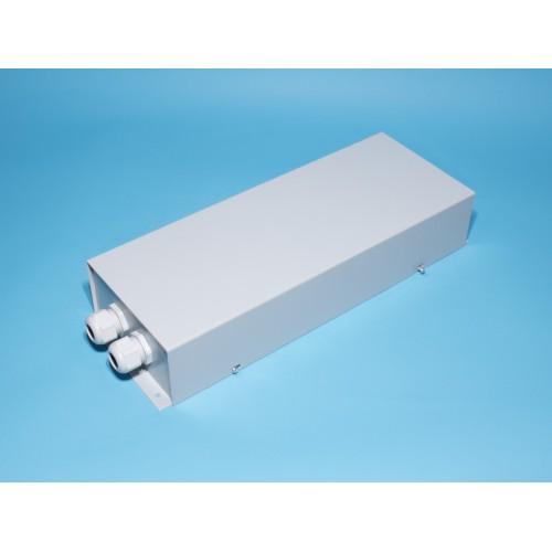 Муфта для 2 ВОК на 24 оптич. волокна, метал., в полной комплект. (420х150х78 мм)