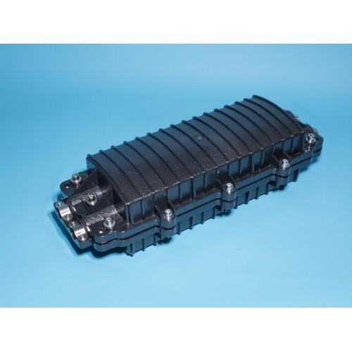 Муфта для ВОК на 24 оптических волокна, пластиковая, проходная