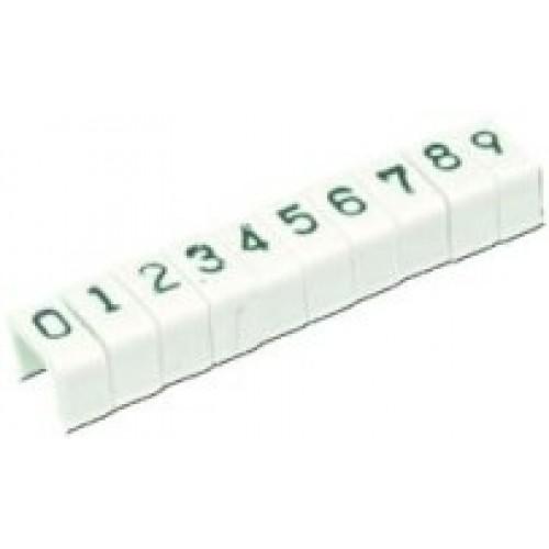 Маркер защелкивающийся цифра 6 d=3.6mm.(уп.100 шт.)