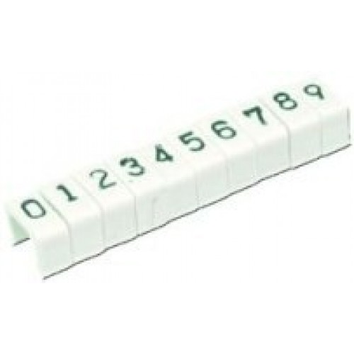 Маркер защелкивающийся цифра 6 d=5,1mm.(уп.100 шт.)