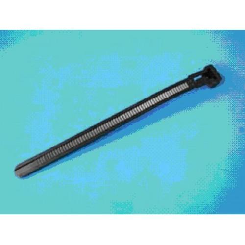 Стяжка нейлоновая 125х7,6мм, открывающаяся, (черная), KSS (уп.100шт.)