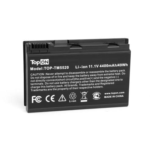 Аккумулятор для ноутбука Acer Extensa 5220, 5620, TravelMate 5530, 5720 Series. 11.1V 4400mAh 49Wh. PN: TM00742, GRAPE34.