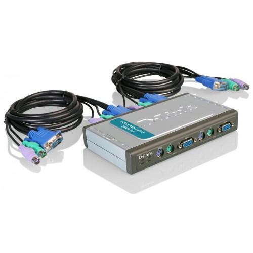 Переключатель на 4 компьютера (2 кабеля 1.8м)