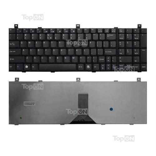 Клавиатура для ноутбука Acer Aspire 9500, 9503, 9504 Series. Плоский Enter. Черная, без рамки. PN: K022602A1.