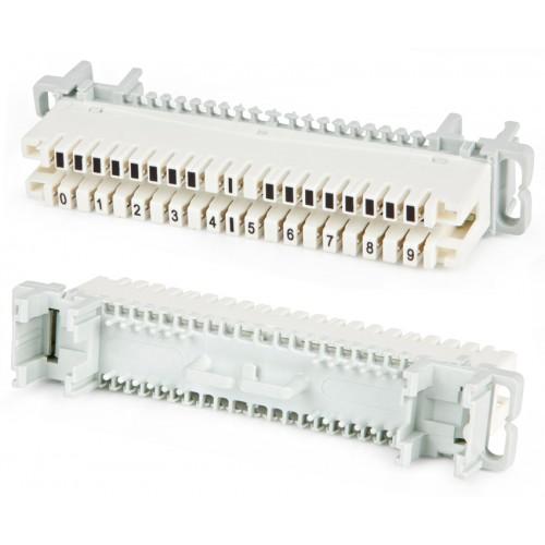 Плинт размыкаемый LSA-PLUS-PROFIL, 10 пар, маркировка от 0 до 9, TWT Pro, под хомут и профиль TWT-LSA10P-DIS-Q