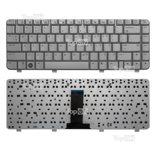 Клавиатура для ноутбука HP Pavilion HP DV2000, V3000 Series. Плоский Enter. Серебристая, без рамки. PN: NSK-H520R.