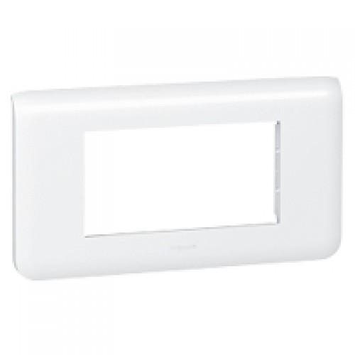 Рамка декоративная Legrand 078814 Mosaic 4М горизонтальная белая