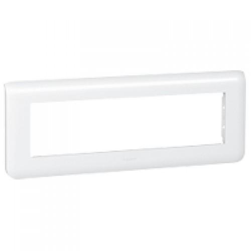 Рамка декоративная Legrand 078818 Mosaic 8М горизонтальная, белая
