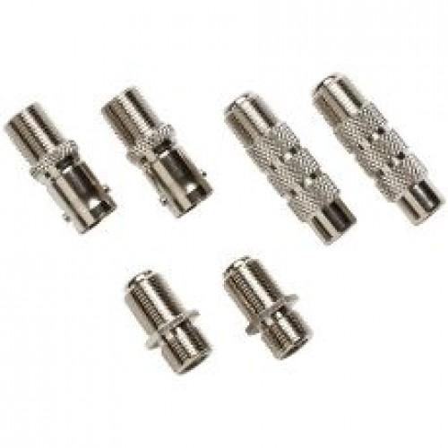CableIQ комплект коаксиальных адаптеров : F-коннектор , BNC и RCA коннекторы