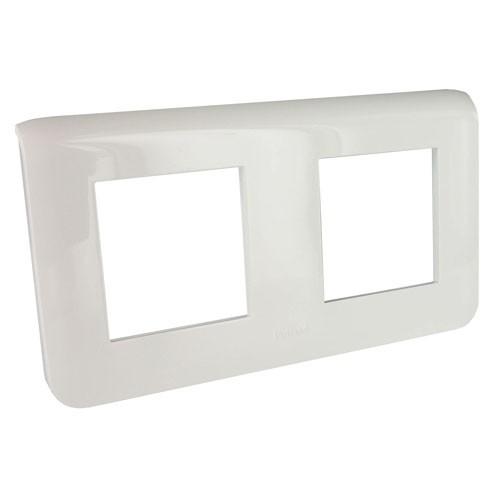 Рамка декоративная Mosaic 4М - 2х2 горизонтальная белая Legrand 078804