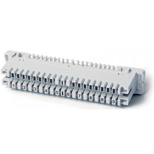 Плинт (кросс) размыкаемый LSA-PLUS, 10 пар, маркировка от 1 до 0, под хомут