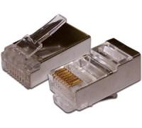 Коннектор RJ-45 8P8C FTP Кат. 5e TWT, экранированный, универсальный, 100 шт. в упак. TWT-PL45/S-8P8C