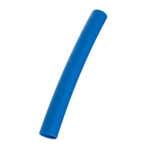 Трубка термоусаживаемая ТУТнг-(2:1)-12/6мм, синяя, не горючая, КВТ