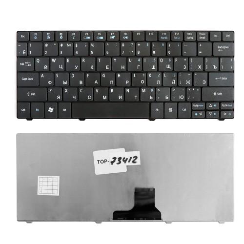 Клавиатура для ноутбука Acer Aspire 1810, 1830T, 1410, One 721, 722, 751 Series. Плоский Enter. Черная, без рамки. PN: NSK-AQ00R.