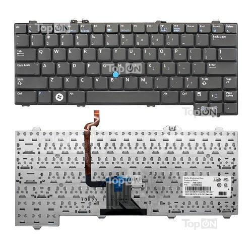 Клавиатура для ноутбука Dell Latitude XT, XT2 Series. Плоский Enter. Черная, без рамки. PN: NSK-DA20R, 9J.N9582.00R.