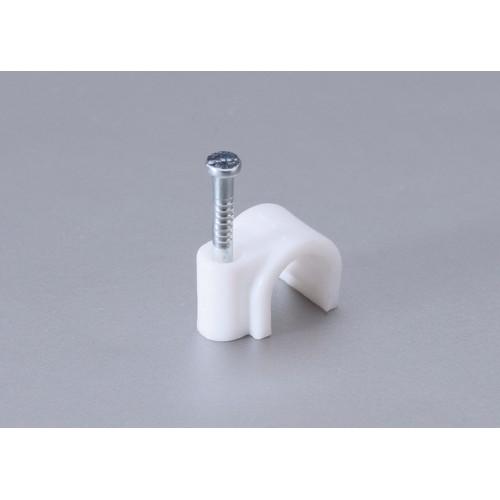 Скоба для крепления кабеля круглая с гвоздем
