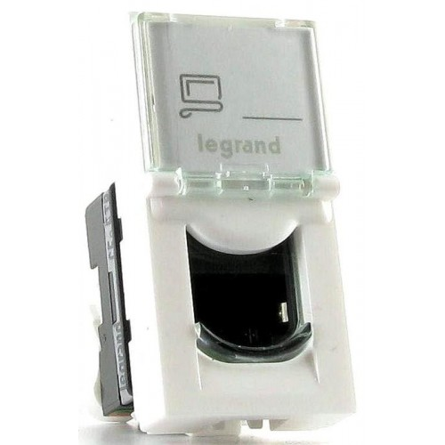 Розетка Legrand 076551 Mosaic 1М RJ45 UTP кат.5e