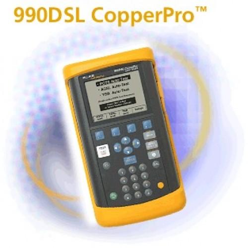 Анализатор 990DSL CopperPro Base Unit для тестирования телефонных линий и XDSL, Определяет напряжени
