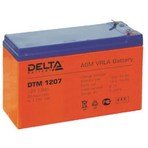 Аккумуляторная батарея Delta DTM 1207 (12V; 7Ah)