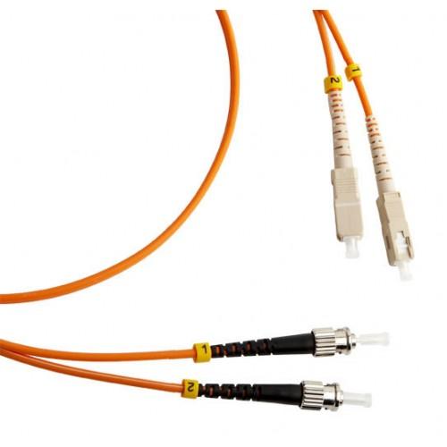 Шнур оптический SC-ST, duplex, 50/125, 1m, LANMASTER LAN-2SC-2ST/1-M50