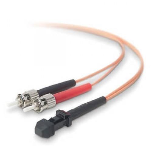 Шнур оптический MTRJ(f)-ST, duplex, 50/125, 1m, LANMASTER LAN-MTF-2ST/1-M50