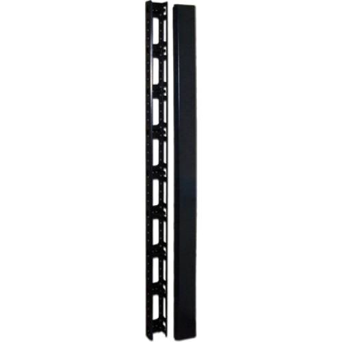 Кабельный органайзер вертикальный, 47U, для шкафов Business шириной 800 мм, металл, 2 шт., черный