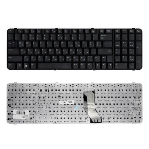 Клавиатура для ноутбука HP Compaq 6830, 6830s Series. Плоский Enter. Черная, без рамки. PN: 490327-251.