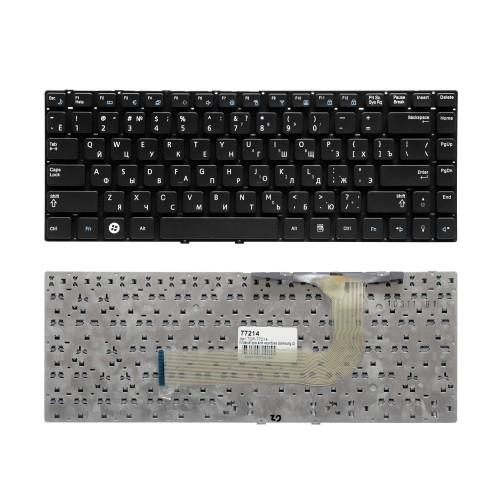 Клавиатура для ноутбука Samsung Q430, QX410, SF410 Series. Плоский Enter. Черная, без рамки. PN: BA59-02792D, CNBA5902792CBIH.