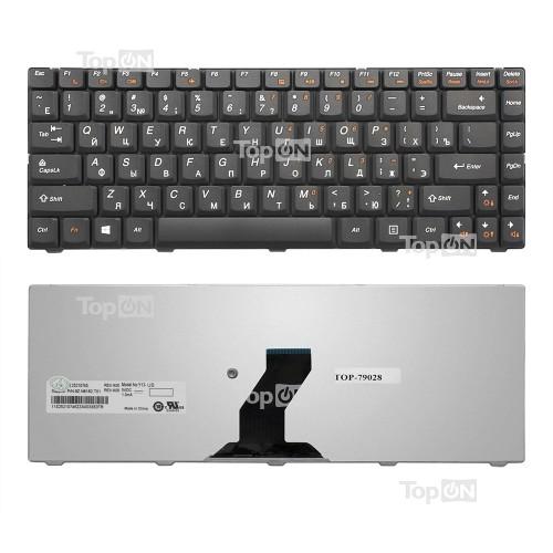 Клавиатура для ноутбука Lenovo IdeaPad B450, B450A, B450L Series. Плоский Enter. Черная, без рамки. PN: 25-009181.