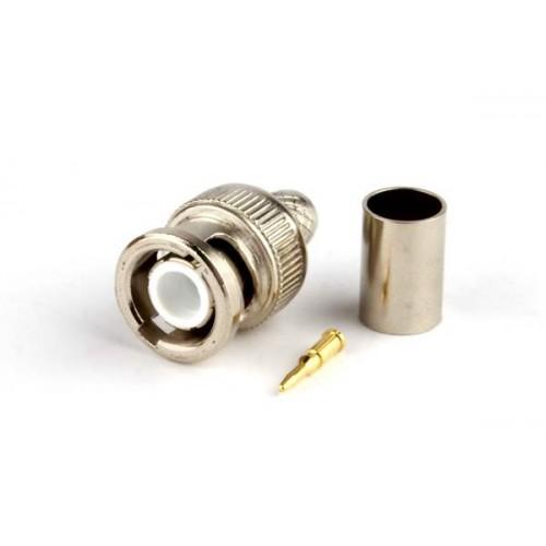 CON-BNC-M-RG6-CR Разъем BNC для кабеля RG-6, обжимной, Hyperline
