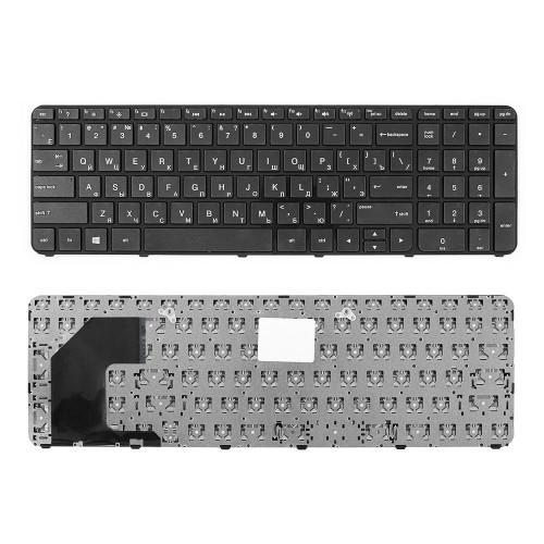 Клавиатура для ноутбука HP Pavilion Envy 15-B, 15T-B, 15-B000 Series. Плоский Enter. Черная, с черной рамкой. PN: AEU36700010.
