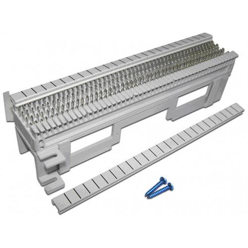 Кроссовая панель 66 типа, 50 пар, настенная, LANMASTER, с установочной площадкой LAN-WS66-50FT