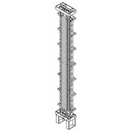 Стойка универсальная распределительная ССКТБ ТОМАС СУ1/20-С1-СК1 на 740 пар, однорядная, без задних кабельспусков