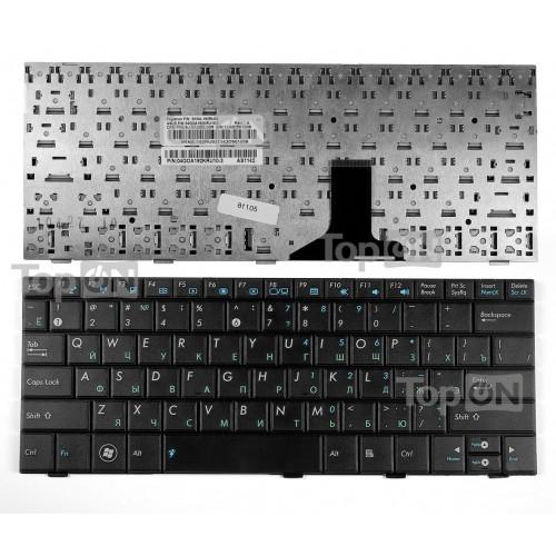 Клавиатура для ноутбука Asus Eee PC 1001, 1005, 1005P, 1005PEG, 1005HA, 1008HA Series. Плоский Enter. Черная без рамки. PN: MP-09A33SU-5282.