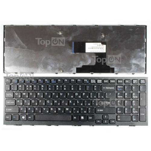 Клавиатура для ноутбука Sony Vaio VPC-EL Series. Черная, с черной рамкой.