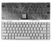 Клавиатура для ноутбука Sony Vaio VPC-EA Series. Плоский Enter. Белая, без рамки. PN: 148793151, V081678DS1.