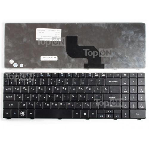 Клавиатура для ноутбука Acer Aspire 5241, 5332, 5334, 5516, 5517, 5532, 5534, 5541 Series. Плоский Enter. Черная, без рамки. PN: MP-08G63SU-698.