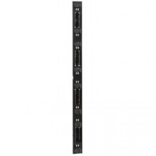Комплект из 2ух вертикальных кабельных органайзеров со щеточными вводами